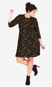 City Chic Dreamy Ditsy Dress