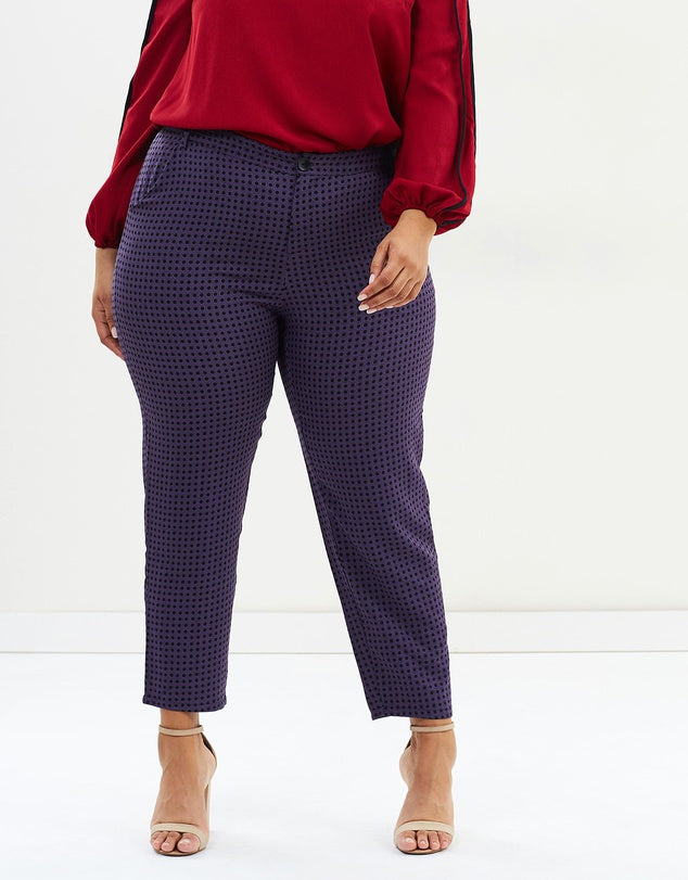 New // ATMOS&HERE CURVY 'Jackson Slim Leg Pants' // Best Suited To Sizes 22-24