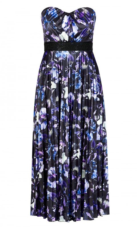 New // CITY CHIC 'Lavender Floral Maxi-Dress' // Size 24