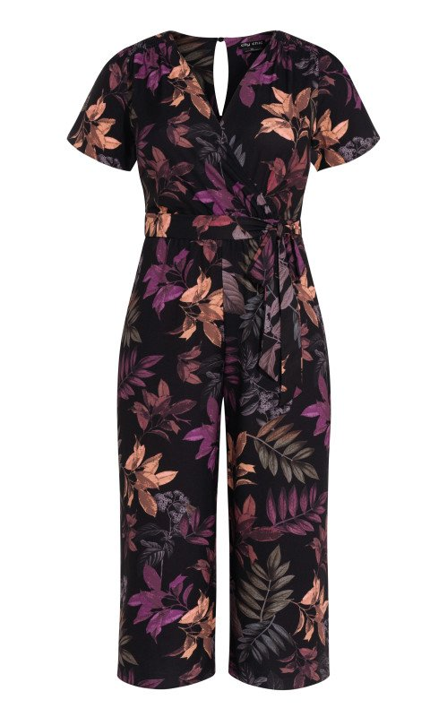 New // CITY CHIC 'Leaf Play' Jumpsuit // Size 16