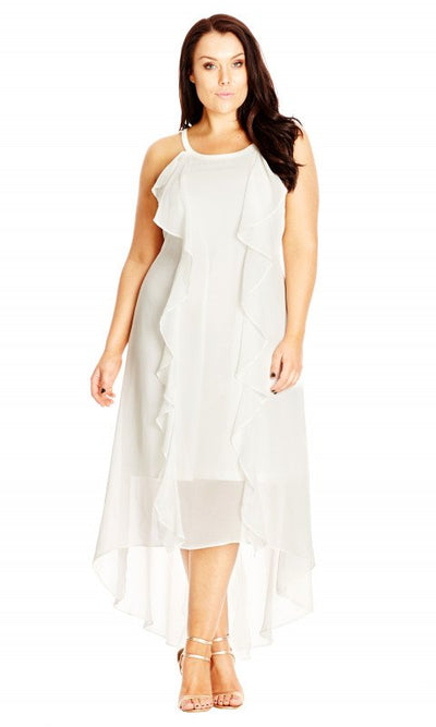 Lush Layer Chiffon Ruffle Dress