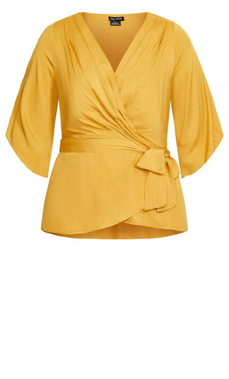 City Chic mustard plus size top