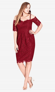 city chic red lace dress