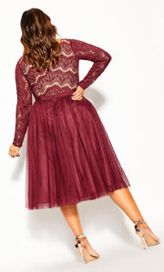 City Chic rare merlot plus size dress nz