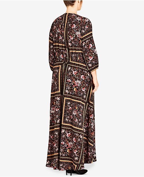 New // CITY CHIC 'Rose Scarf' Maxi-Dress // Size 16
