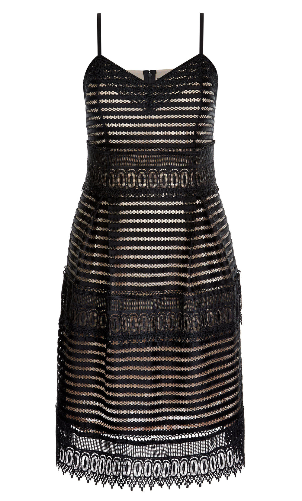 Royal Detail Fit & Flare Dress city chic