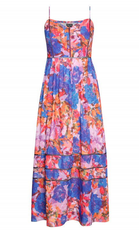 New // CITY CHIC 'Stainglass Maxi-Dress' // Sizes 14 & 22