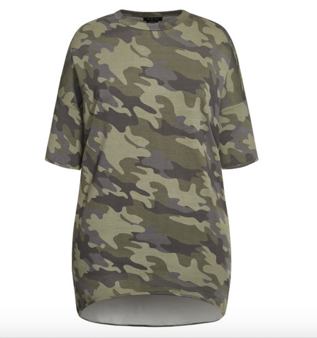 New // CITY CHIC 'Oversize Camo Top' // Size 20