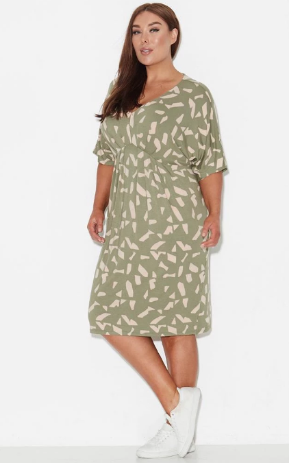 17 sundays pipe dream dress moss green