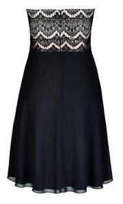 City Chic Ebony Eyelash dress