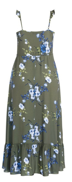 Tamika Floral Maxi Dress - khaki