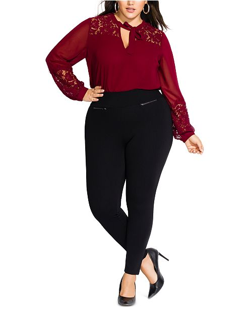 plus size black pants nz