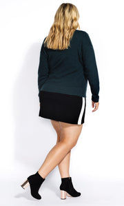 New // CITY CHIC 'Bauble Fun - Emerald' Sweater // Size 20