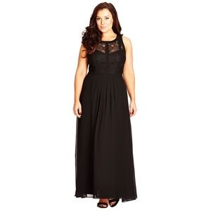 city-chic--Black-Lace-Panelled-Bodice-Maxi-Dress
