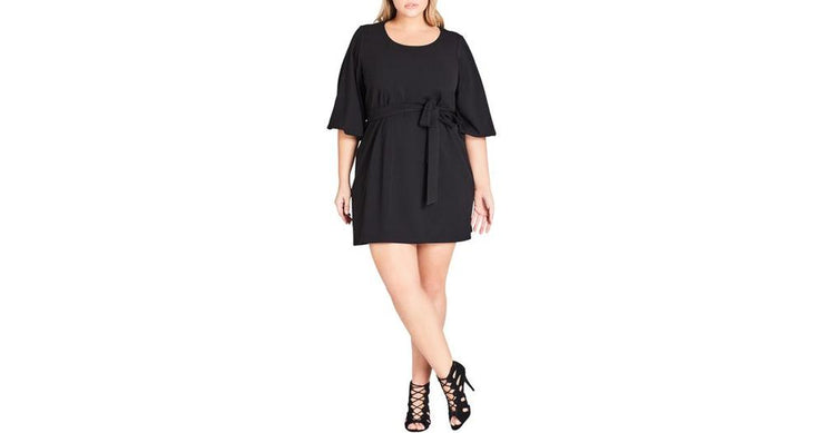city chic plus size bubble sleeve dress
