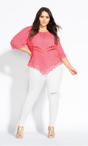city chic catalina guava top