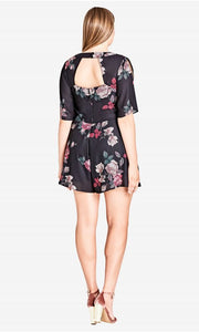 city chic floral fling playsuit