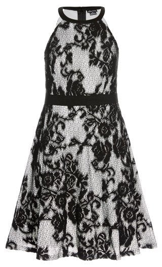 New // CITY CHIC 'Pretty Lace Fit & Flare Dress' // Size 16