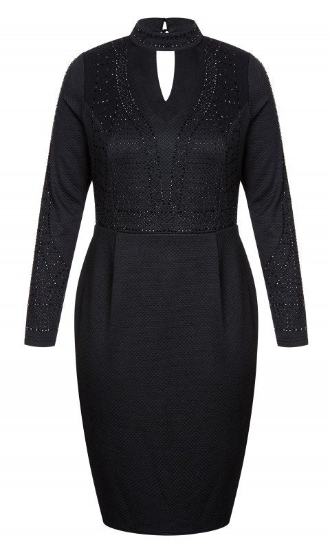 City Chic Stud Choker dress