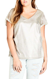 city chic super metallic top