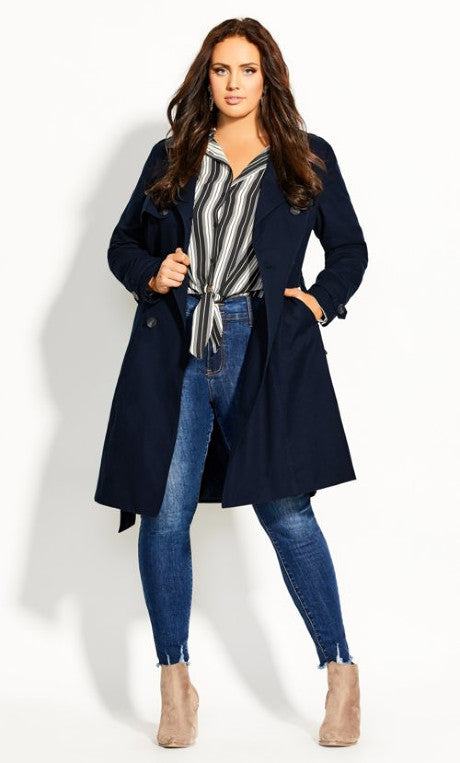 City Chic Plus Size Trench Coat NZ