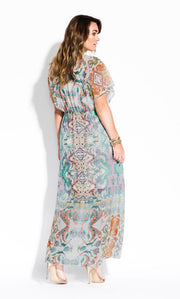 city chic casablanca plus size maxi dress