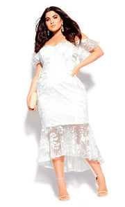 city chic lace aflutter dress