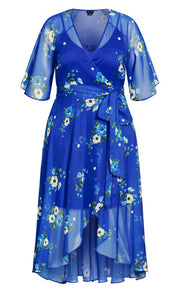 City Chic blue floral maxi dress
