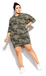 City Chic plus size oversize camo top