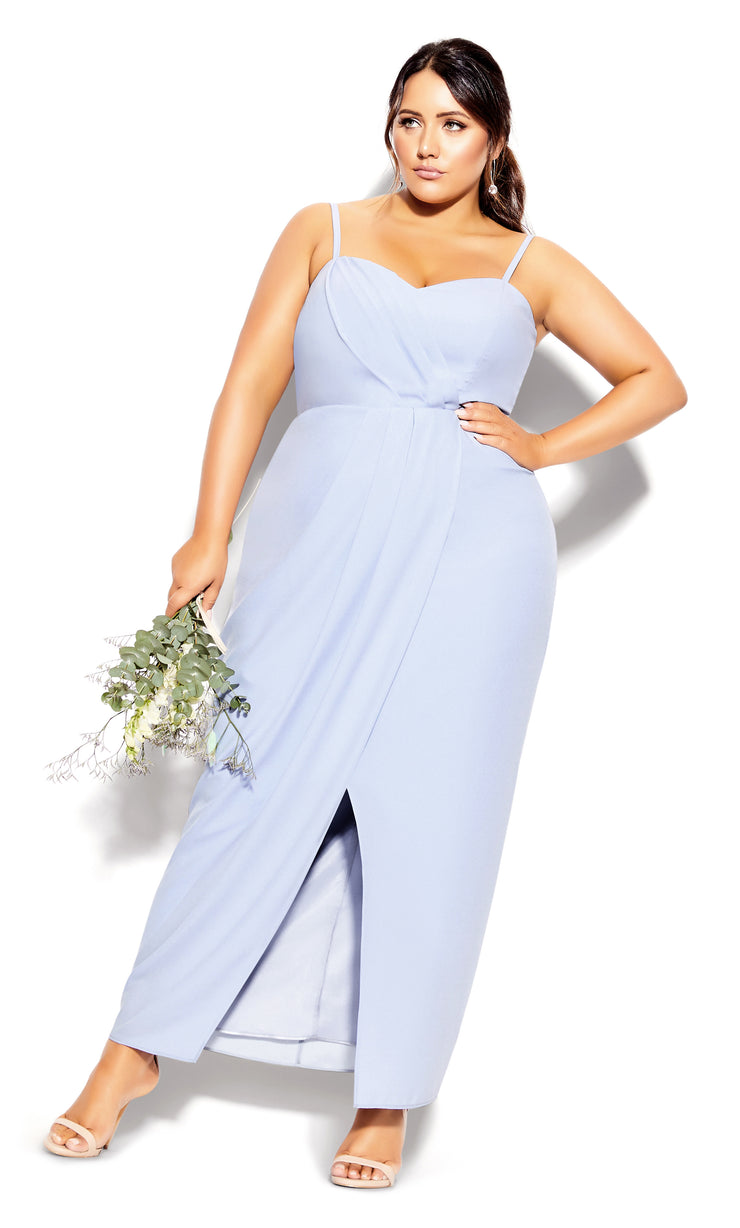 city chic sweet drape maxi dress powder