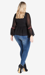 city chic wonderlust top