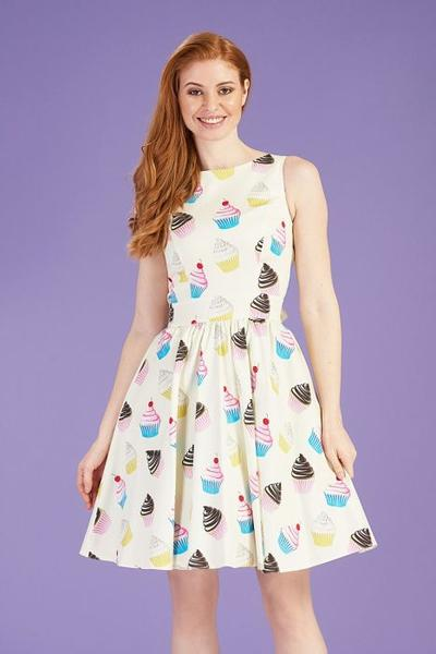 lady vintage cupcake plus size dress
