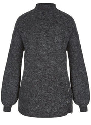 New // CITY CHIC 'Eyelet Detail' Jumper - Charcoal // Size 18