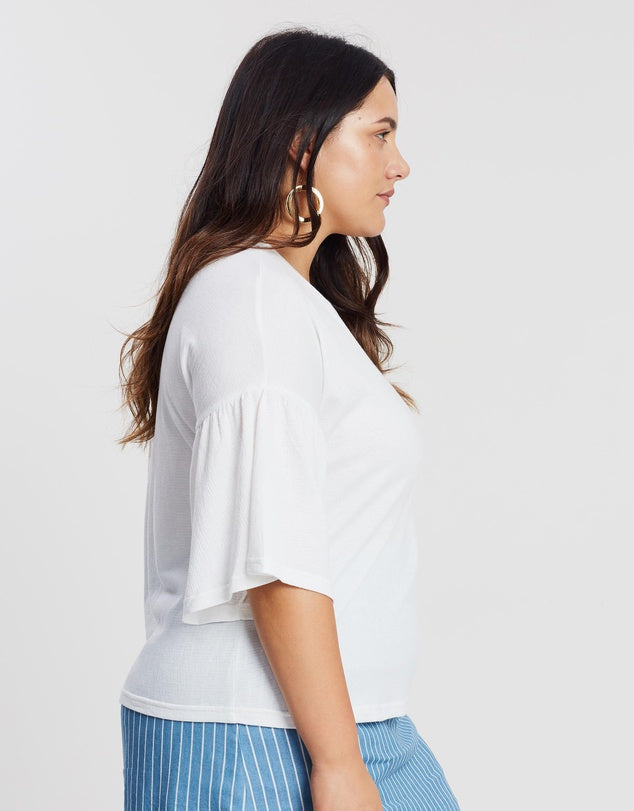 plus size white tshirt