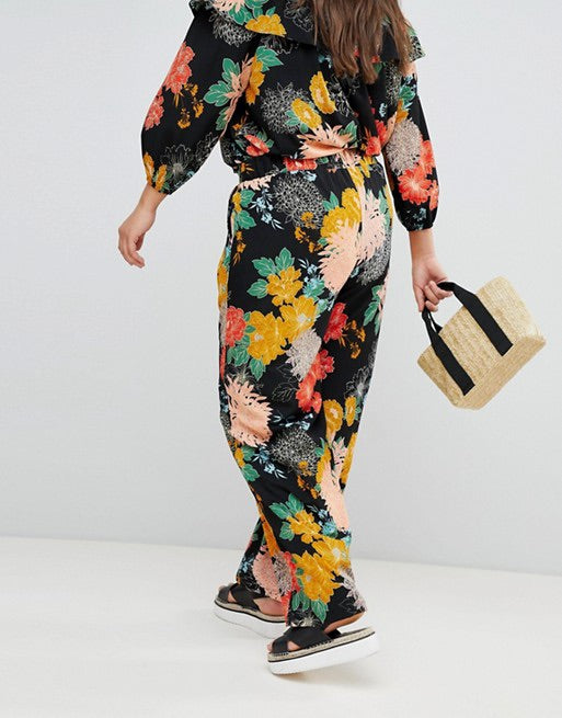 New // GLAMOROUS CURVE 'Bold Floral' Relaxed Trousers // Sizes 20, 22, 24 & 26