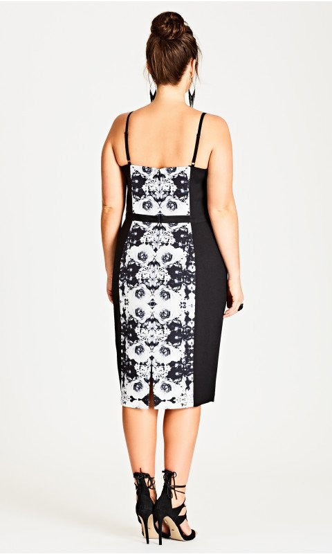 New // CITY CHIC 'Mirror Me' Printed Sheath Dress // Sizes 22 & 24