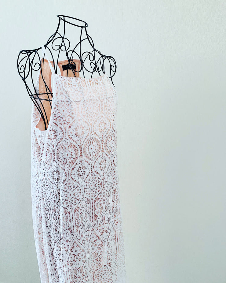 New // PAGANI 'Scallop Lace Maxi-Dress' // Sizes 14 & 16