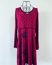Preloved // KIWI ANGEL Merlot-Coloured Tunic/Dress // Best Suited To Sizes 16-18