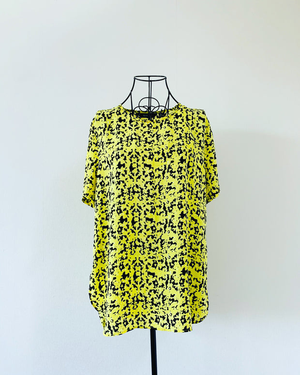 Preloved // GLASSONS Bold Yellow Blouse // Size 14