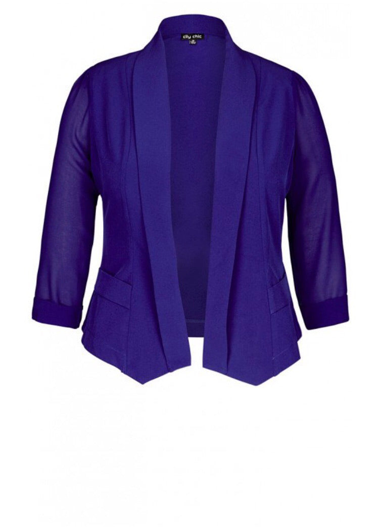 New // CITY CHIC 'Coloured Drapey Blazer Jacket' // Size 14