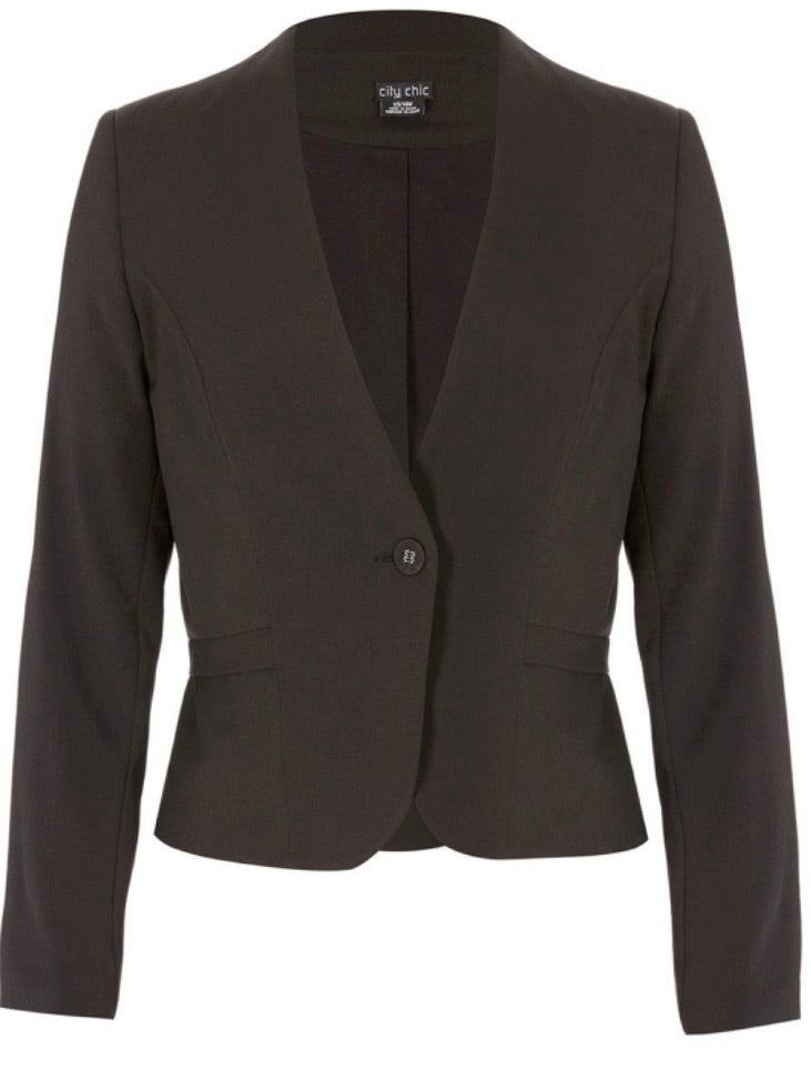 City Chic Black Peplum jacket