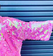 New // Cotton Candy-Coloured Sequinned Kimono // Best Suited To Sizes 14-20
