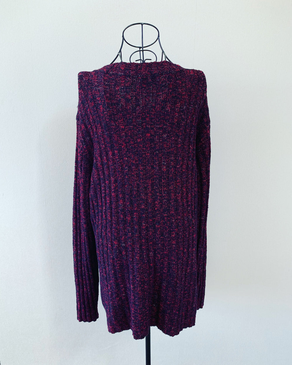 Preloved // SPIRIT Chunky Crimson-Coloured Sweater // Best Suited To Sizes 18-20
