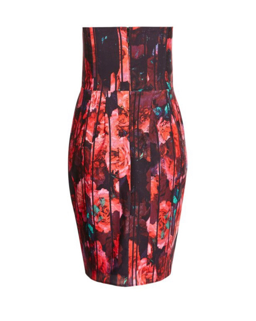 New // CITY CHIC 'Party Print Layered Dress' // Sizes 18 & 24
