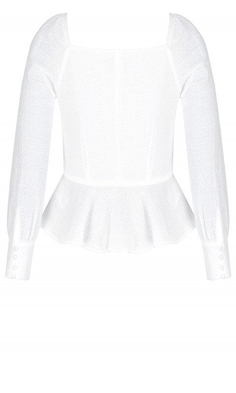 city chic ivory button up top