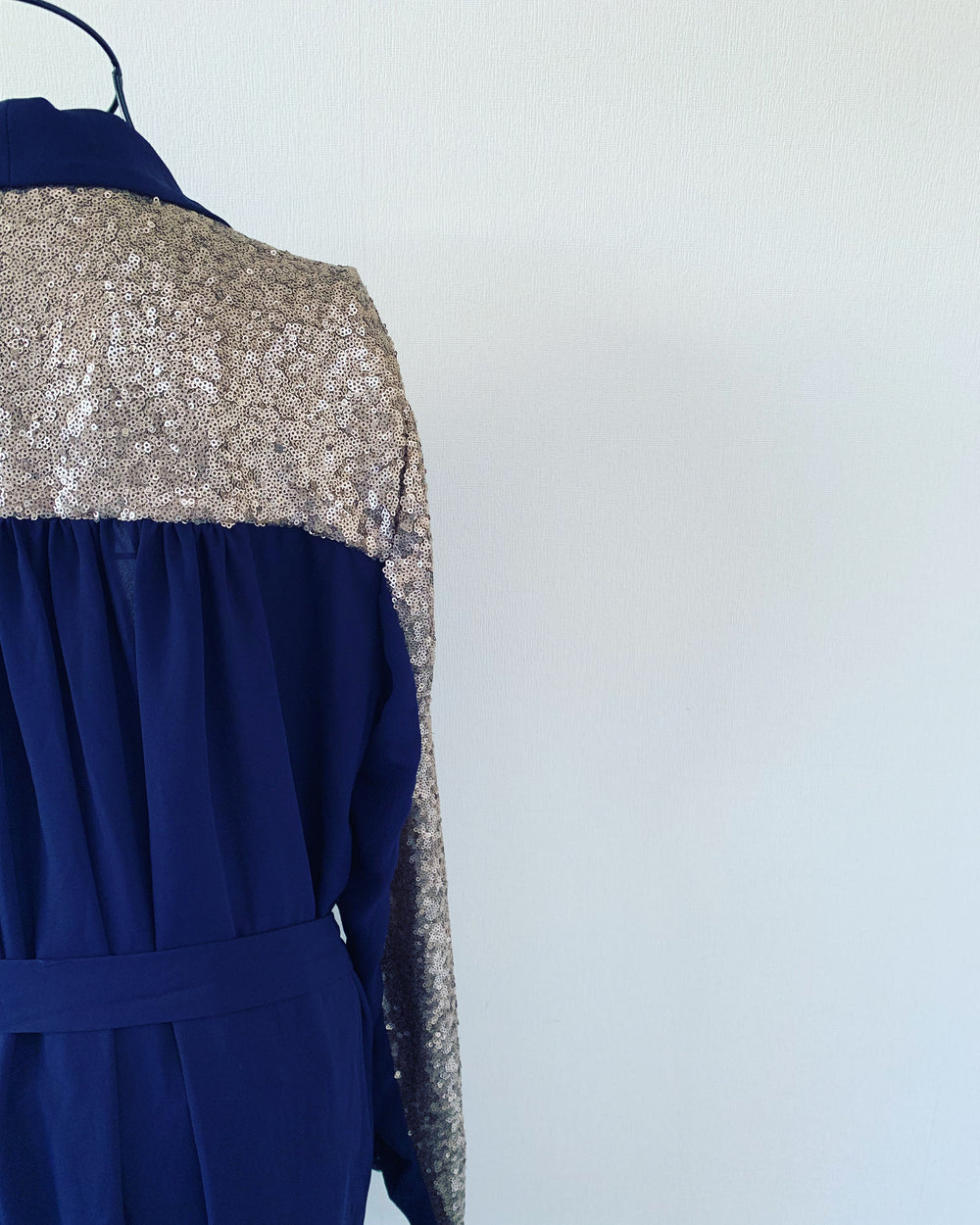 Preloved // AUGUSTINE Chiffon-Style Jacket With Sequins & Waist Tie // Best Suited To Sizes 14-16