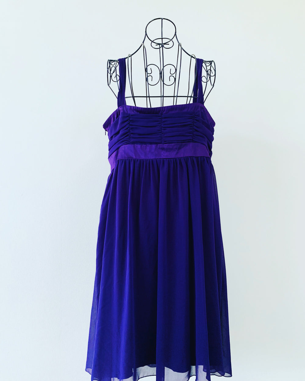 Preloved // CITY CHIC Purple Evening Dress With Diamanté Detail // Size 16