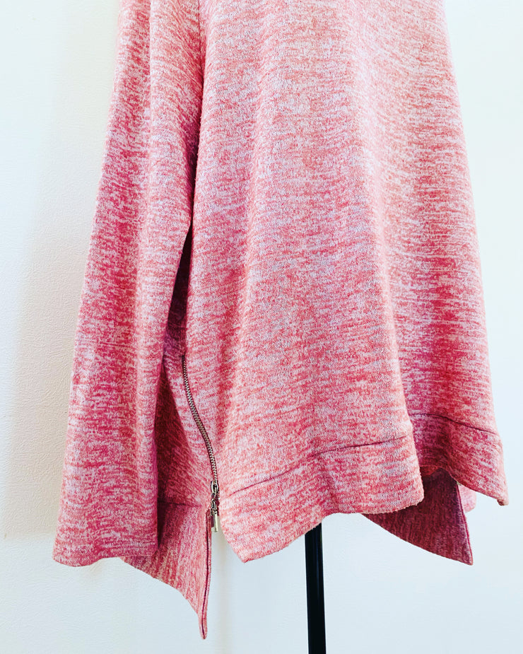 Pre-loved // SPIRIT Pink Musk Sweater With Zip Detail // Size 18