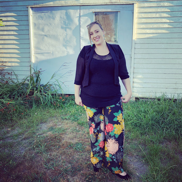 plus size floral pants nz