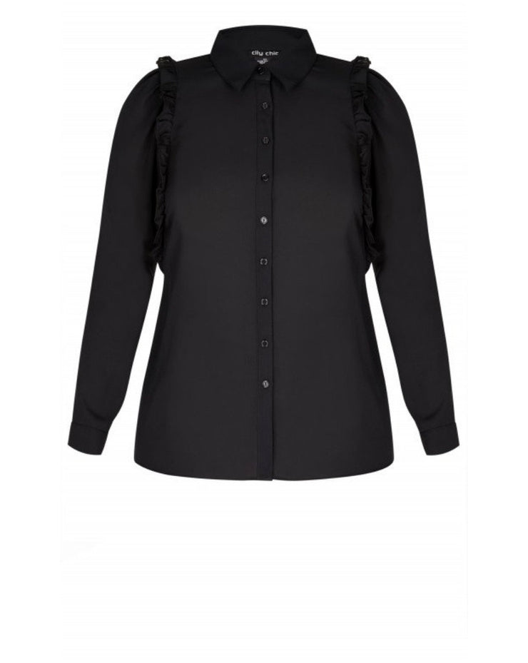New // CITY CHIC 'Girly Shirt Frill' // Size 16